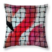 Weaved Bird Throw Pillow