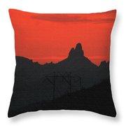 Weaver Needle Sunset Throw Pillow