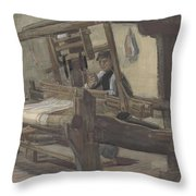 Weaver Nuenen, December 1883 - August 1884 Vincent Van Gogh 1853 - 1890 3 Throw Pillow