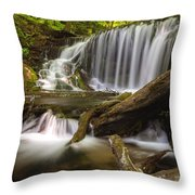 Weavers Creek Falls Throw Pillow