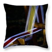 Weaving At Dawn Throw Pillow