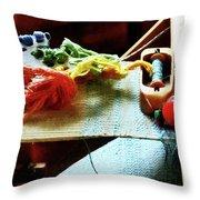 Weaving Supplies Throw Pillow