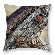 Web Covered Wheel Throw Pillow
