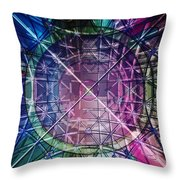 Web Matrix Throw Pillow