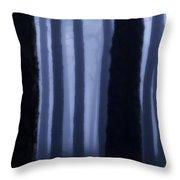 Blue Fog  Throw Pillow