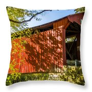 Webster/dick Huffman Covered Bridgesw Of Putnamville, Washingto Throw Pillow