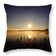 Webster Lake December Sunrise  Throw Pillow