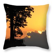 Webster Ny Sunset Throw Pillow