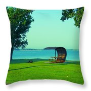 Webster State Park Throw Pillow