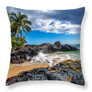 Wedding Beach Throw Pillow