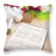 Wedding Boutquets Throw Pillow