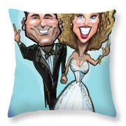 Wedding Cake Dolls Throw Pillow