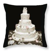 Wedding Cake Petals Throw Pillow