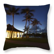 Wedding Chapel At Turtle Bar Resort Throw Pillow