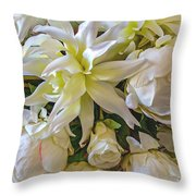 Wedding Day Bouquet Throw Pillow