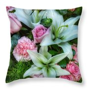 Wedding Flowers Throw Pillow