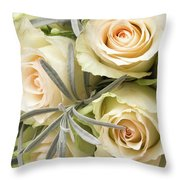 Wedding Flowers Throw Pillow by Wim Lanclus