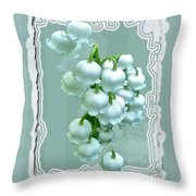 Wedding Happiness Greeting Card - Lily Of The Valley Flowers Throw Pillow