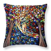 Wedding In The Park Throw Pillow