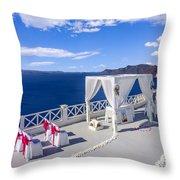 Wedding On The Greek Isles Throw Pillow