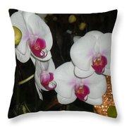 Wedding Orchids Throw Pillow