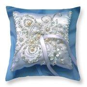 Wedding Ring Pillow. Ameynra Beadwork Throw Pillow