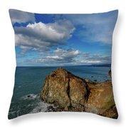 Wedding Rock Patrick Point Throw Pillow
