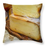 Wedges Of Ripe Cheese Wrapped Throw Pillow