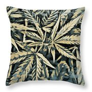 Weed Abstracts Four Throw Pillow
