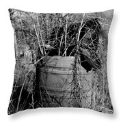 Weed Covered Mailbox Throw Pillow
