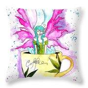 Weed Fairy Naptime Throw Pillow