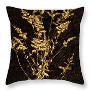 Weed Portrait Throw Pillow