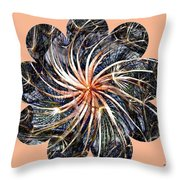 Weed Whirl Throw Pillow