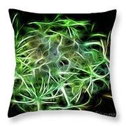 Weeding Neon Throw Pillow