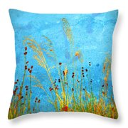 Weeds And Water Throw Pillow