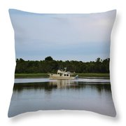 Weekend Boating Throw Pillow