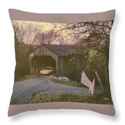 Weekend In New England Throw Pillow