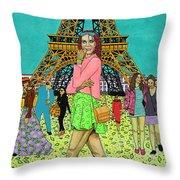 Weekend In Paris Throw Pillow