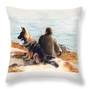 Weekends Throw Pillow