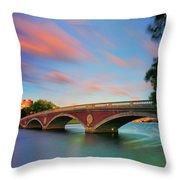 Weeks' Bridge Throw Pillow by Rick Berk