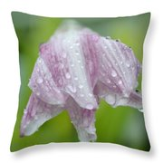 Weeping Lily Throw Pillow