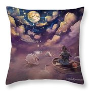 Weeping Of Violin Throw Pillow