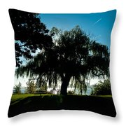Weeping Willow Silhouette Throw Pillow