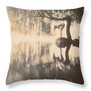 Weeping Willow Woman Throw Pillow
