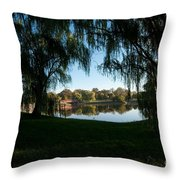 Weeping Willows Throw Pillow