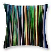 Weeping Yellowstone Trees Throw Pillow