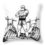 Weight Lifter Throw Pillow