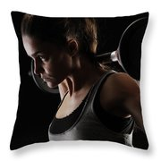 Weightlifting Throw Pillow