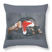 Weihnachtshund Throw Pillow