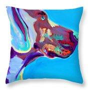 Weimaraner - Blue Throw Pillow